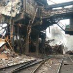 На комбинате Азовсталь произошло самопроизвольное обрушение